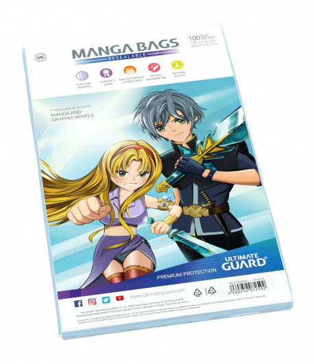 Bolsas Manga tamaño B6 con cierre reutilizable (100 unidades)